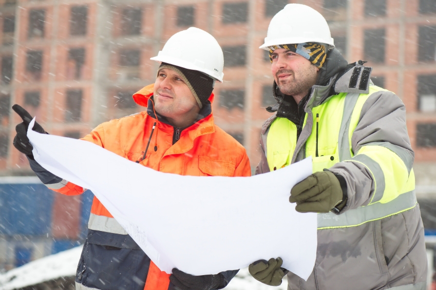Civil Engineers At Construction Site In Winter Season iStock_000056308458_Small