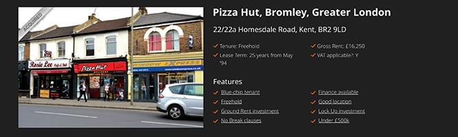 Restaurant investment: Pizza Hut, Bromley